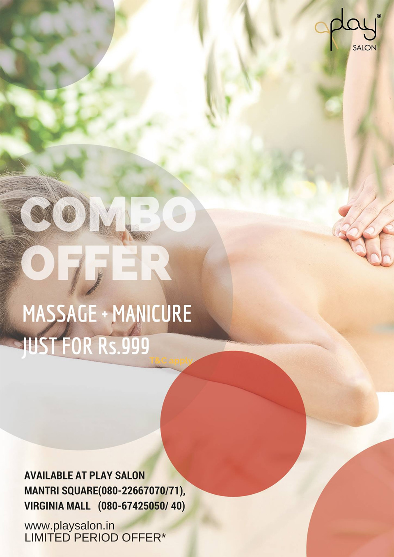 Salon-Offers-in-Bengaluru-Play-Salon-Massage-manicure-Combo-Nov-2017